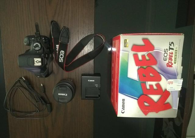 Câmera canon t5 + 18-55 - Foto 2