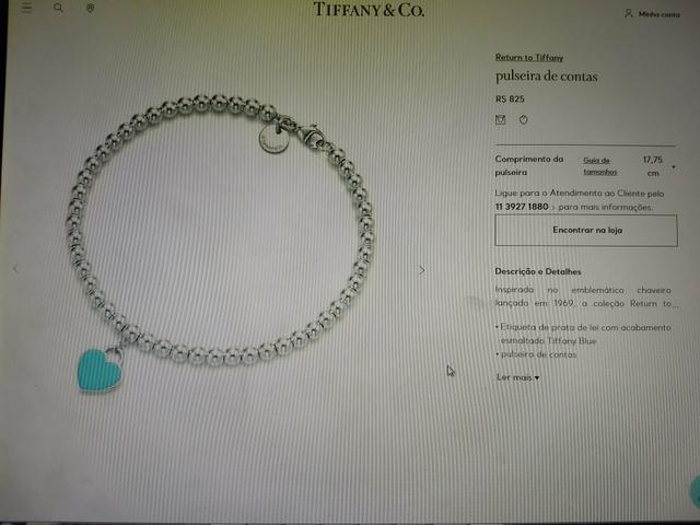 8f66191c43f7d Pulseira Tiffany  em prata - Bijouterias