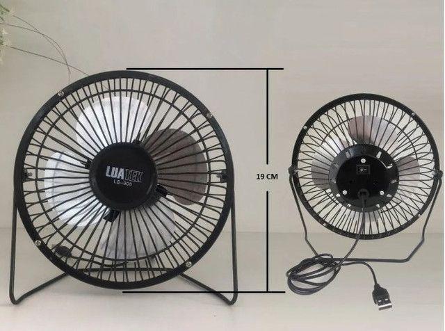 Mini Ventilador 5v Usb Luatek Para Pc, Notebook Em Metal Mesa- (Loja BK Variedades) - Foto 4