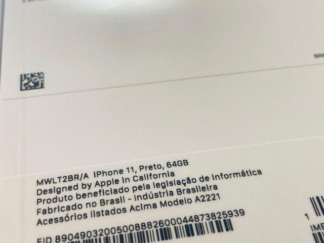 IPhone 11 de 64gb, NF + Garantia 1 ano, A2221, Anatel, Lacrado, Zero, Novo, Preto - Foto 2