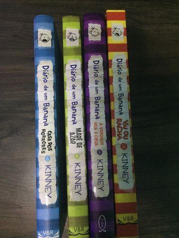 Todos estes livros do diário de um banana em perfeito estado