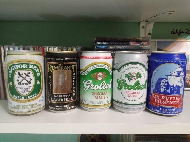 Lote Coleção de Latas Cervejas Importadas Holanda Anos 90 - Foto 3