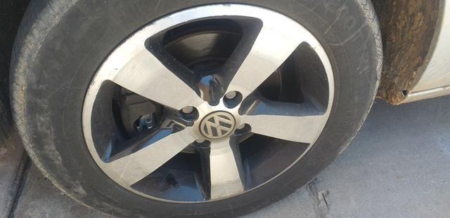 Troco jogo de rodas 14 com o pnel novos em jogo de rodas 17 - Foto 2