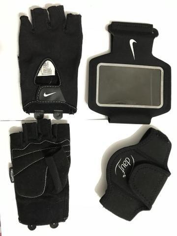 Luva e braçadeiras para Academia/Caminhada