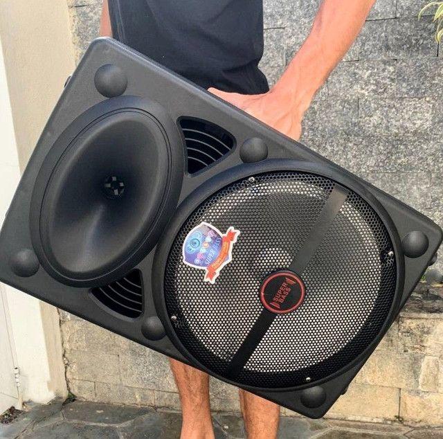 Caixa de Som Super Bass 2000w de Potência Bluetooth Microfone e Controle! - Foto 3