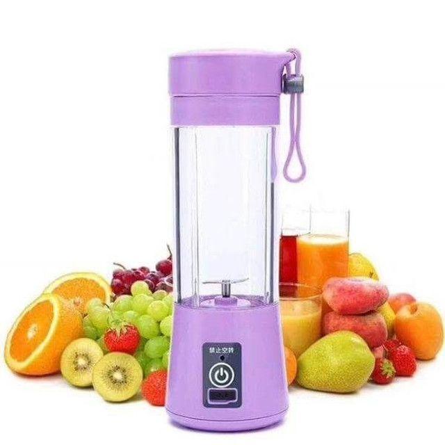 Mini Liquidificador Portátil Shake Take Juice Cup 6 Lâminas Recarregável - Foto 3