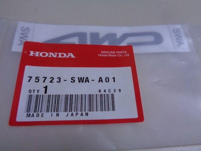 Emblema Adesivo 4WD do HRV da tampa da mala - Peça nova original - Cód 75723SWAA01 - Foto 3