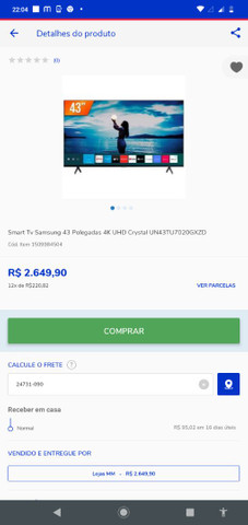 Tv Samsung 43 cristal - Foto 4