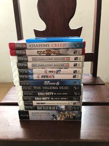 PS3 com 14 jogos  - Foto 3