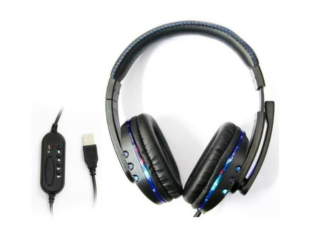Headset Gamer Usb Ps3/Pc Microfone Knup