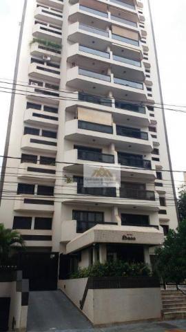 Apartamento com 3 dormitórios para alugar, 107 m² por r$ 1.300/mês - centro - ribeirão pre