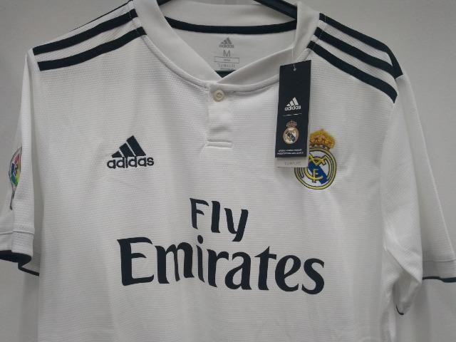 64d13a089a Camisa Real Madrid 18/19 - Home - M - Esportes e ginástica - Alto ...