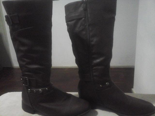 6d88a9814a Bota de couro marrom cano longo - Roupas e calçados - Andaraí
