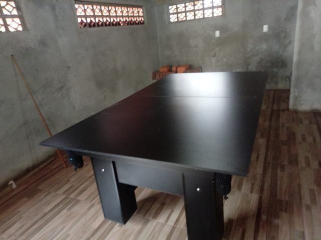 Mesa Charme de Bilhar | Mesa Preta | Tecido Preto | Modelo: GLHY1681