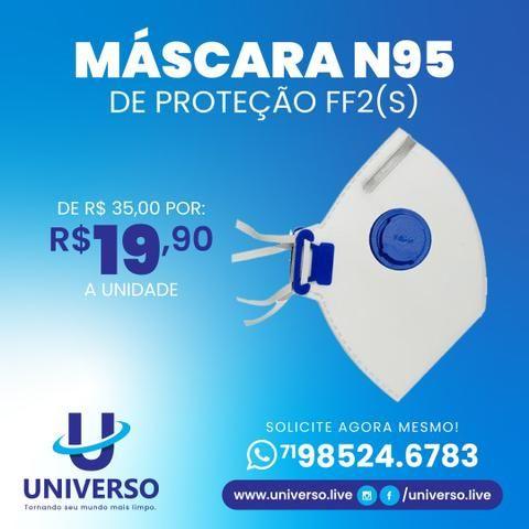 Máscara Mask Face PFF2S N95 com válvula - Foto 3