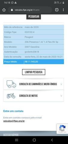 Vendo Peugeot 206 1.4 Flex - Foto 3