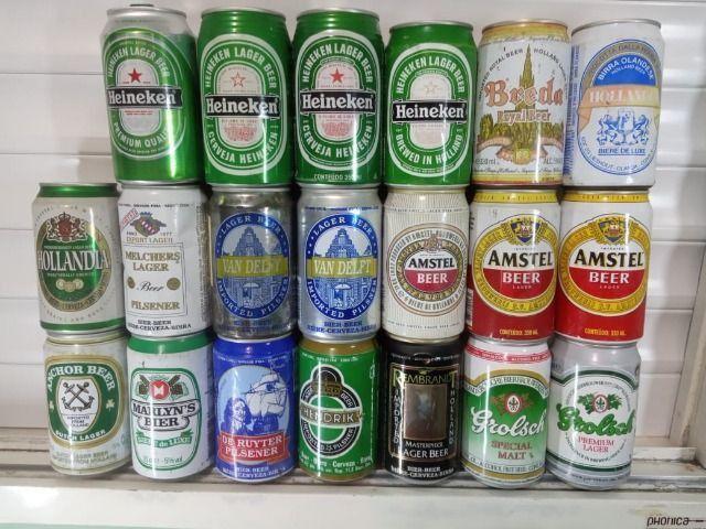 Lote Coleção de Latas Cervejas Importadas Holanda Anos 90