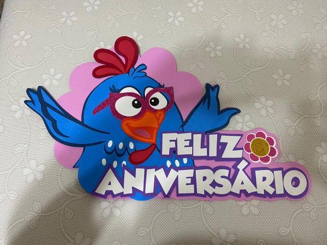 Painel Galinha Pintadinha EVA (Feliz Aniversário)