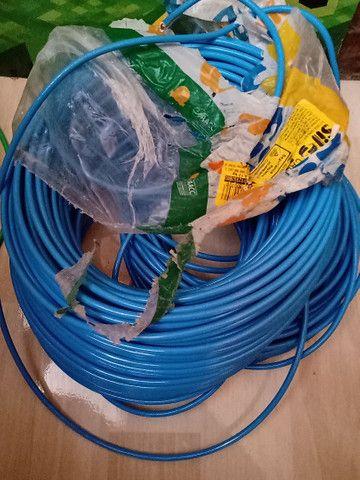 Cabo flexível verde  e azul 6 mm - Foto 4