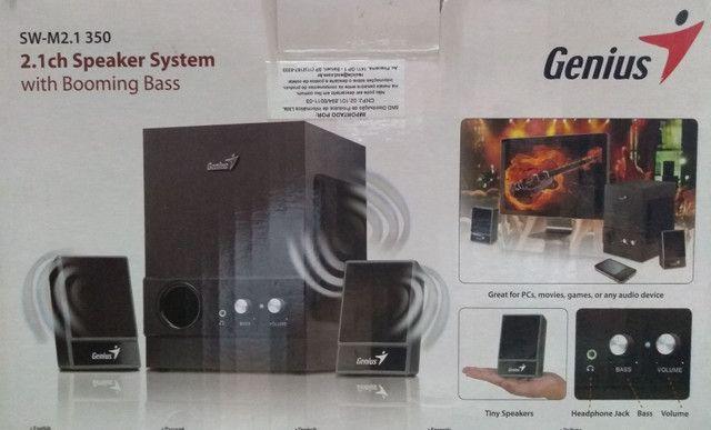 Sistema de som p/ computador e outros (usada/ótimo estado) - Foto 5