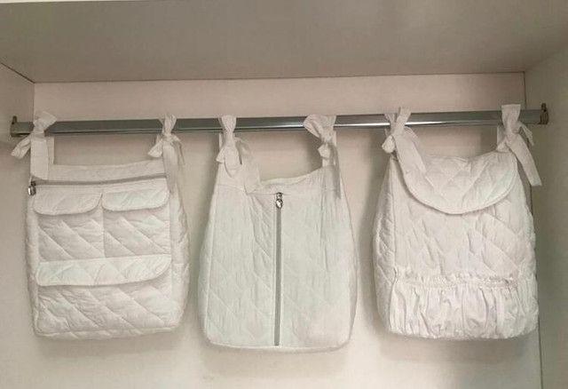Trio-porta fraldas e lenços umidecidos