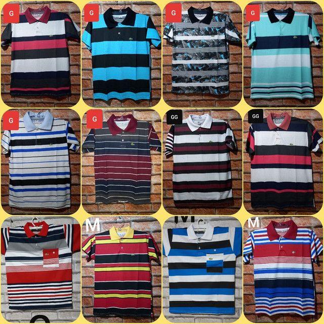 Camisas Gola Pólo: (P) (M) (G) e (GG)