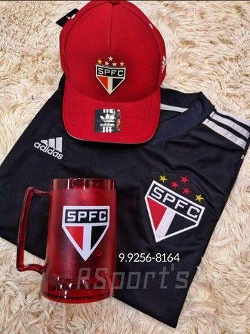 Kit do São Paulo camisa boné e caneca