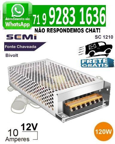 Fonte Chaveada 10a 12v 120w Para Cftv Fita Led Som Automotivo 10 amperes