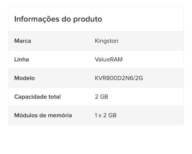 memória RAM para desktop  - Foto 2