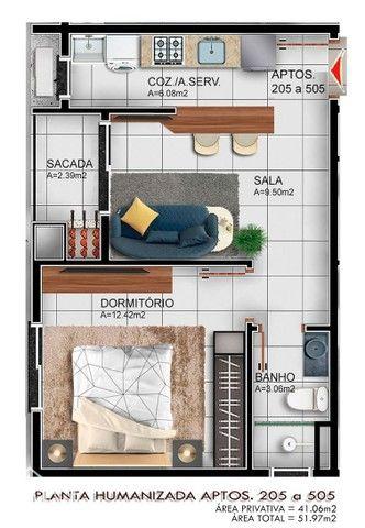 Apartamento à venda com 1 dormitórios em Camobi, Santa maria cod:10232 - Foto 4