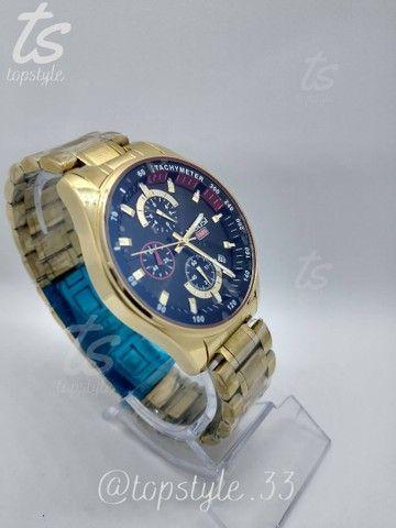 Relógio de pulso masculino original nibosi modelo 2375 resistente a água - Foto 2