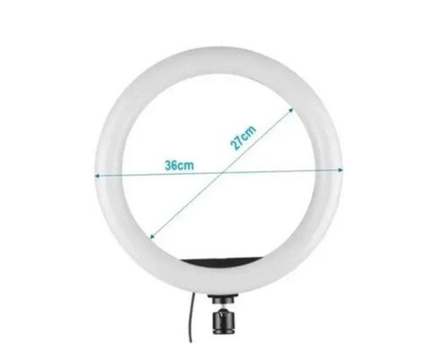 Ring Light 14 Polegadas(36cm) Led Celular C/ Controle e Tripé 2.1mt  - Foto 3