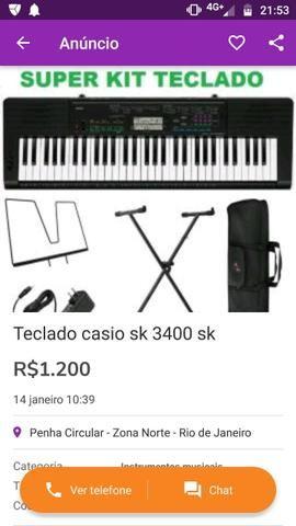 Teclado casio sk 3400 sk