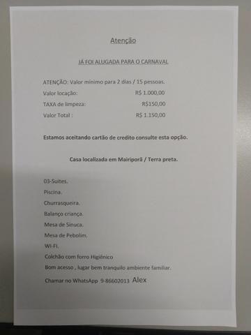 Chácara em Mairiporã R$ 500,00 mínimo 2 dias - Foto 12