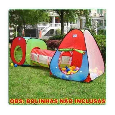 10cbf346456f7 Promoção Linda Barraca Toca Infantil 3 Em 1 Com Túnel Nova ...