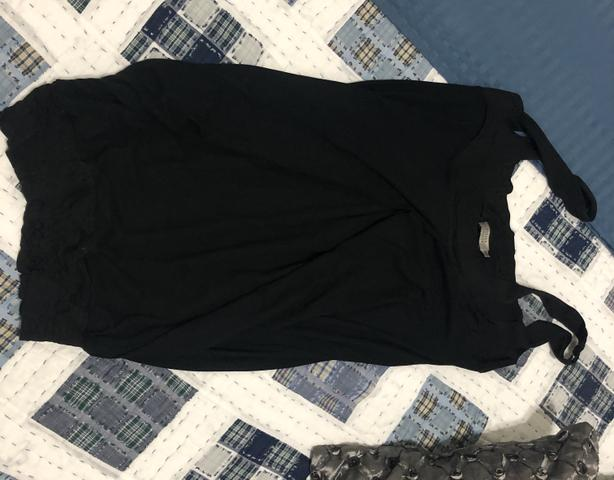 Vestido preto balonê Espaço Fashion