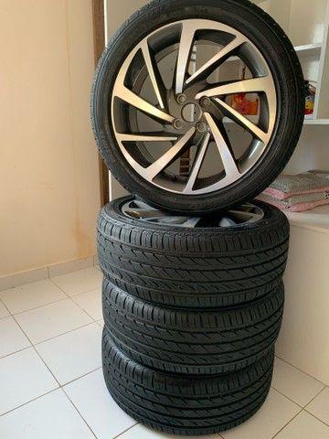 Jogo de rodas novo  aro 17 com pneus novos - Foto 5