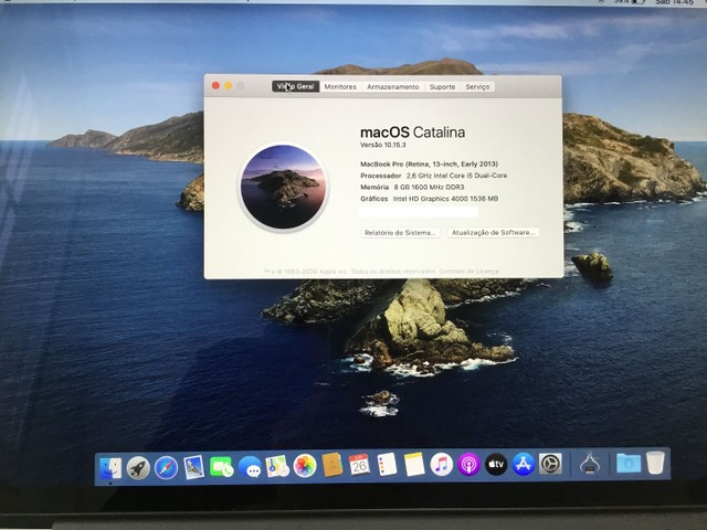 MacBook Pro Retina i5 2013 A1425/8GB/SSD250 - Foto 2