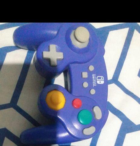 Controle Nintendo/PC/Celular GameCube azul
