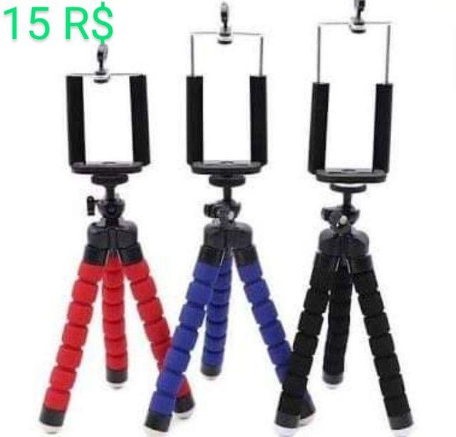 Tripé Articulado Flexível Para Celulares e Câmeras Digitais