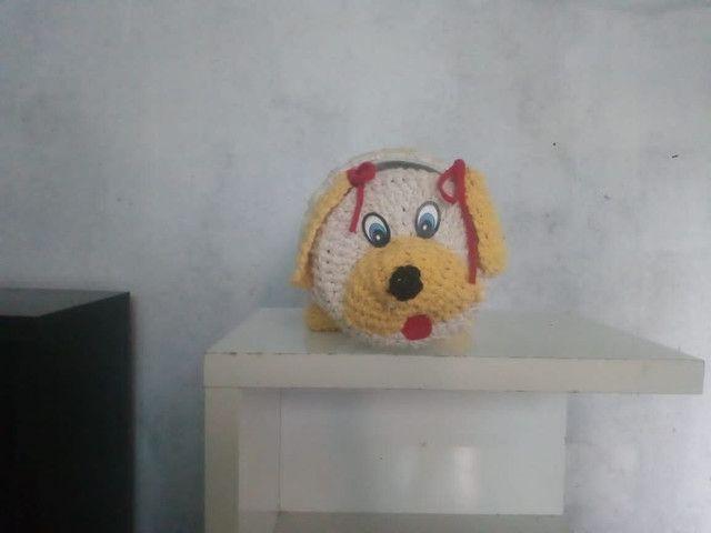 Artesanato cachorrinho de crochê