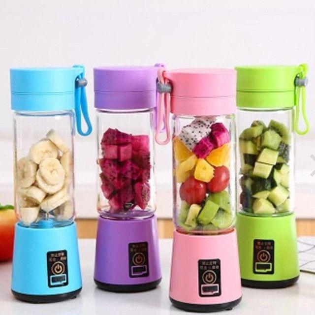 Mini Liquidificador Portátil Shake Take Juice Cup 6 Lâminas Recarregável