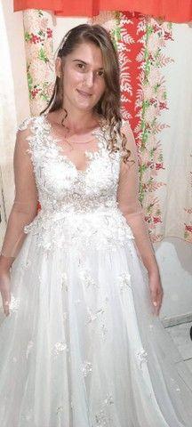 Vendo vestido de noiva. - Foto 4