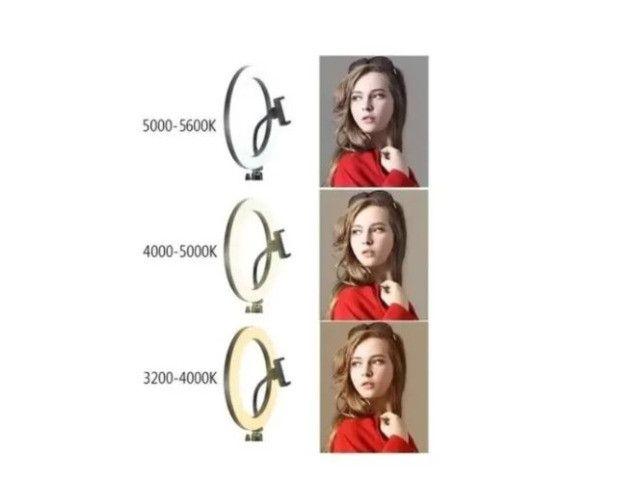 Ring Light 14 Polegadas(36cm) Led Celular C/ Controle e Tripé 2.1mt  - Foto 4