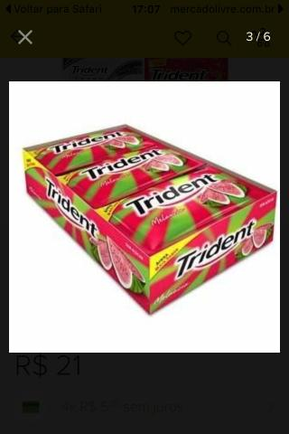 Chiclete /trident todos os sabores
