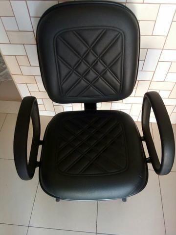 Cadeira interlocutor preta de couro Ótimo estado