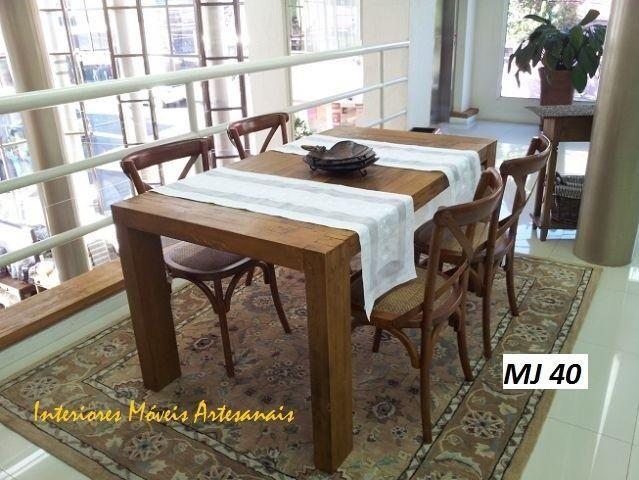 Mesas,cadeira, aparadores e racks é na Interiores móveis artesanais