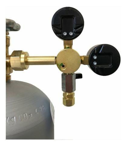 Regulador Válvula Manometro 1 Via Co2 Chopeira Chopp - Foto 3
