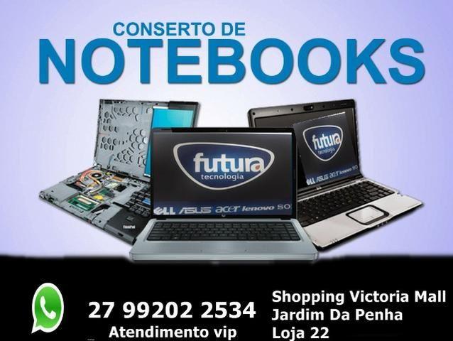 Consertamos macbook-ultrabook-notebook-netbook-pc- Assistência Especialista
