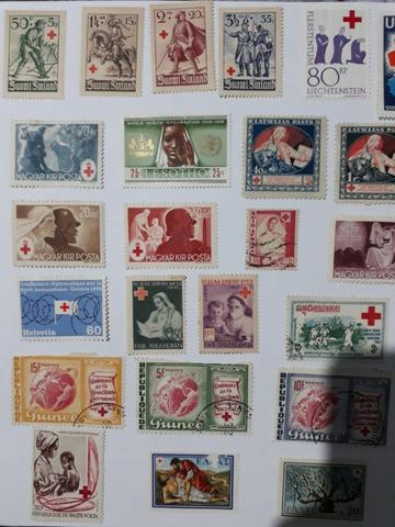 Selos Raros Antigos Da Cruz Vermelha 1949 a 1972
